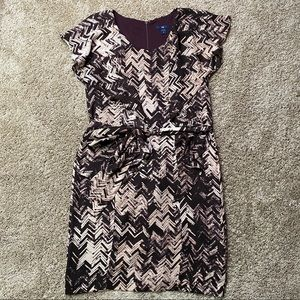 Gap Abstract Chevron Print Purple Dress 6